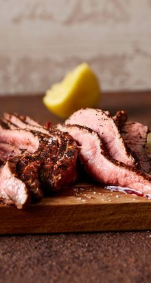Flank Steak mit Chili-Rub